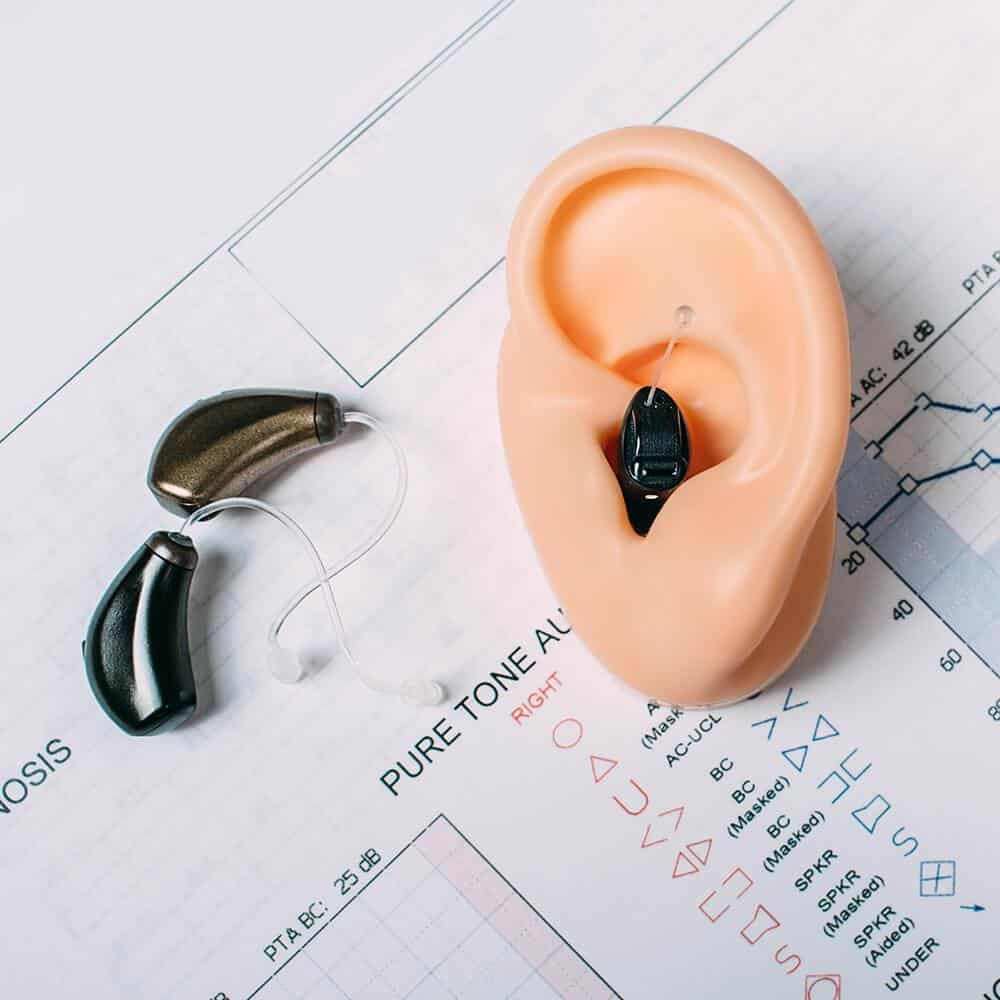 hearing aid in ear mold
